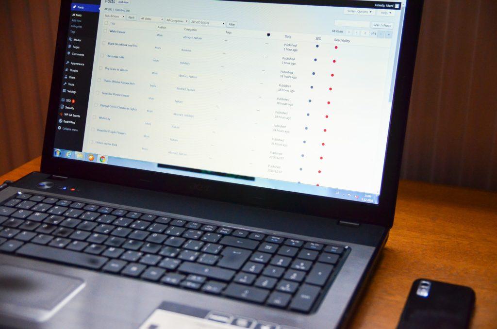 managing and optimising website